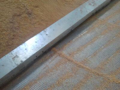 Clean floor attachment cleans closer to bin or silo floor.